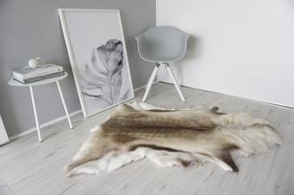 Genuine Super Soft - Extra Large Scandinavian Reindeer Skin Rug  RE 315