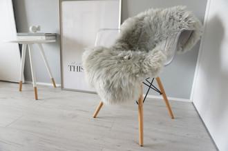 Amazing Genuine Real Sheepskin Rug - Soft Fluffy Silky Warm Wool - Silver / Ash Mix Colour