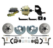 "DBK6272-MP-202 1962-1972 Mopar B & E Body Standard Front Disc Brake Conversion Kit ( Charger, Challenger, Coronet) w/ 8"" Dual Zinc Booster Conversion Kit w/ Master Cylinder Kit"