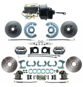 DBK6473-9-FD-250-D  - 1964.5-1966 Ford Mustang Front & Rear Power Disc Brake Conversion