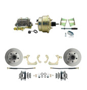 "DBK5964-GMFS2-204  - 1959-1964 GM Full Size Front Disc Brake Kit (Impala, Bel Air, Biscayne) &  8"" Dual Zinc Booster Conversion Kit w/ Cast Iron Master Cylinder Bottom Mount Disc/ Drum Proportioning Valve Kit"