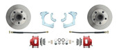 DBK5964-R  - 1959-1964 Full Size Chevy Complete Disc Brake Conversion Kit w/ Powder Coated Red Calipers