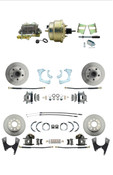 "DBK59641012FS-GMFS2-210  - 1959-1964 GM Full Size Front & Rear Power Disc Brake Kit (Impala, Bel Air, Biscayne) &  8"" Dual Zinc Booster Conversion Kit w/ Cast Iron Master Cylinder Bottom Mount Disc/ Drum Proportioning Valve Kit"