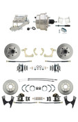 "DBK59641012FS-GMFS2-329  - 1959-1964 GM Full Size Front & Rear Power Disc Brake Kit (Impala, Bel Air, Biscayne) & 8"" Dual Chrome Booster Conversion Kit w/ Flat Top Chrome Master Cylinder Left Mount Disc/ Drum Proportioning Valve Kit"