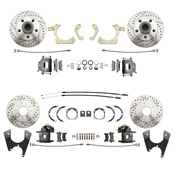 DBK55581012FSLX  - 1955-1958 GM Full Size Front & Rear Disc Brake Kit Drilled/Slotted Rotors (Impala, Bel Air, Biscayne)