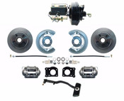 DBK6469-FD-256  - 1967-69 Ford Mustang OE Style Power Disc Brake Conversion Kit Automatics Only