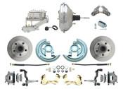"""DBK6472-GM-342  - 1964-1972 GM A Body Front Power Disc Brake Conversion Kit Standard Rotors w/ 11""""  Chrome Booster Kit"""
