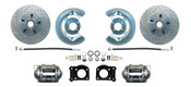 DBK6473LX  - 1964.5 - 1973 Mustang Disc Brake Conversion Kit Drilled & Slotted Rotors