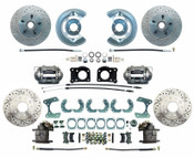 DBK6473-9LX  - 1964.5-1973 Ford Mustang Front & Rear Disc Brake Conversion Drilled & Slotted Rotors