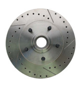 5314RX  - 1962-1972 Mopar A, B, & E Body Vehicle Drilled/ Slotted Large Bolt Pattern Front Rotor (Driver Side)