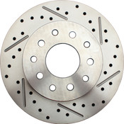 5560-834LX  -  1962-1972 Mopar A, B, & E Rear Drilled/ Slotted Rotor (Driver Side)