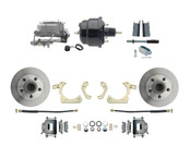 "DBK5558-GMFS1-708-1955-1958 GM Full Size Disc Brake Kit w/ 8"" Dual Powder Coated / Aluminum Booster Conversion Kit (Impala, Bel Air, Biscayne)"