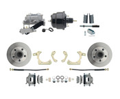 "DBK5558-GMFS1-709-1955-1958 GM Full Size Disc Brake Kit w/ 8"" Dual Powder Coated / Aluminum Booster Conversion Kit (Impala, Bel Air, Biscayne)"
