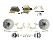 "DBK5558-GMFS1-204-1955-1958 GM Full Size Disc Brake Kit w/ 8"" Dual Zinc Booster Conversion Kit (Impala, Bel Air, Biscayne)"