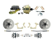 "DBK5558-GMFS1-205-1955-1958 GM Full Size Disc Brake Kit w/ 8"" Dual Zinc Booster Conversion Kit (Impala, Bel Air, Biscayne)"