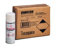 Master Ultratane Butane 11799 4-Pack. Each can contains 3.75 oz of butane