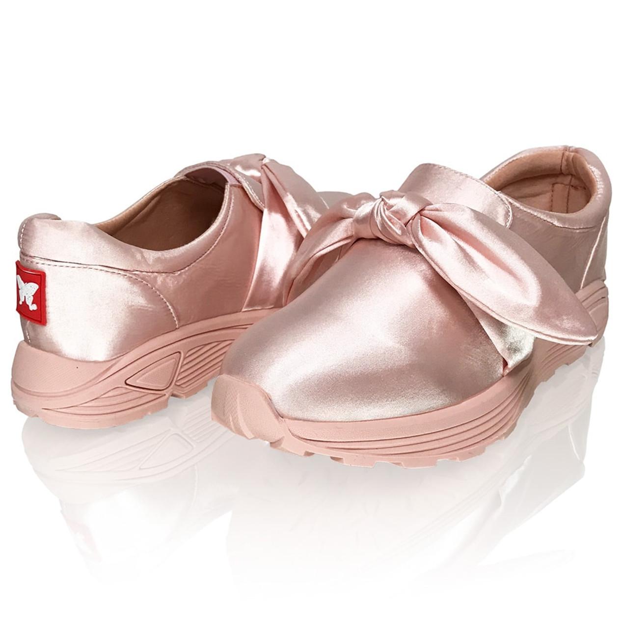 Pink Satin - Detachable Bows