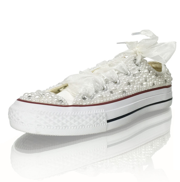 Pearl Embellished Sneakers