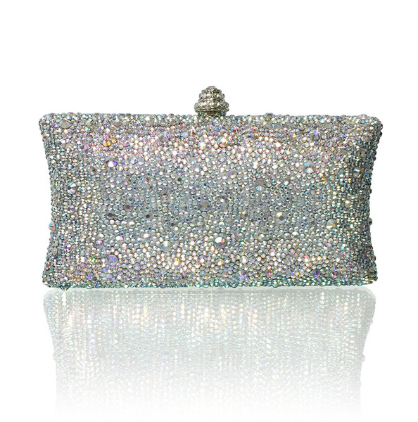 Mixed AB Crystals Luxury Large Evening Clutch