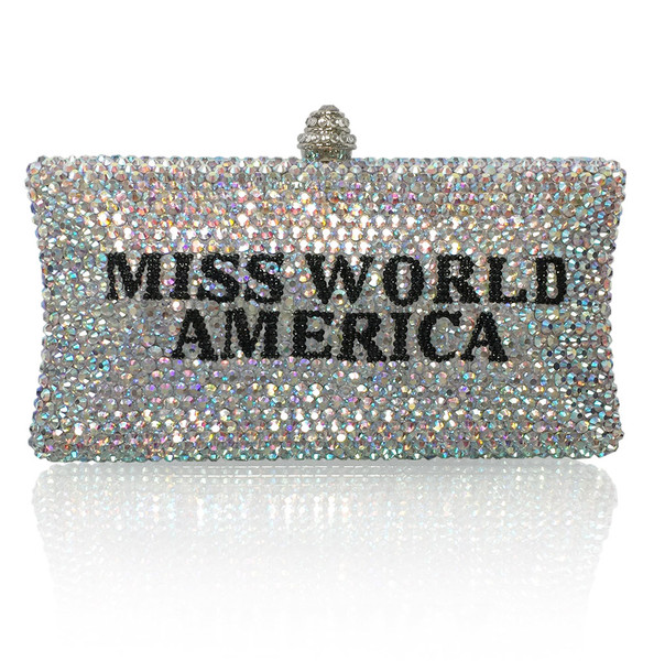 Personalized Crystal Title Large Clutch