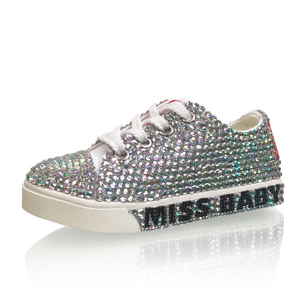 TODDLER - Handmade Personalized Crystal Sneakers