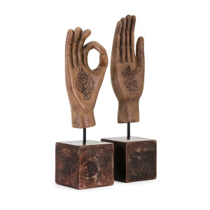 Meditation Hand Sculptures set of two