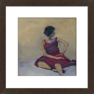 Women in Red Dress Framed Art