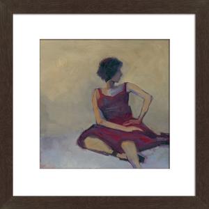 Women in Red Dress Framed Art