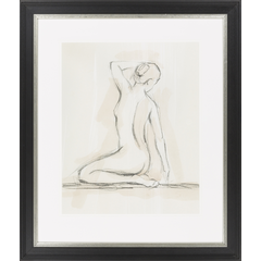 Nude Sitting in Pencil II, Framed