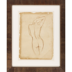 Nude Parchment I, Framed