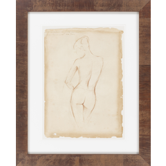 Nude Parchment II, Framed
