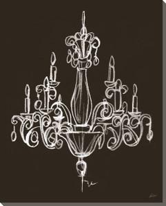 Elegant Chandelier on Black Canvas - #2
