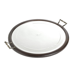 Round Vintage-inspired Mirrored Tray