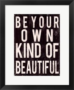 Be Your Own Kind of Beautiful -Vintage Framed Art