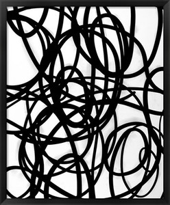 Trellis 4 - Framed Black and White Abstract Print