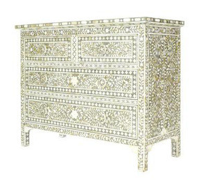 Mother of Pearl Inlay Chest in Grey