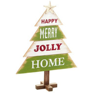 Happy Merry Jolly Home Rustic Tree