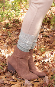 Crew Length Lace Boot Sock