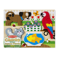 Chunky Wooden Jigsaw Puzzle Pets