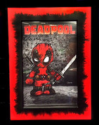 "'BABY DEADPOOL"" By Frankie Serna  in 11x17  Red/Black Splatter Toploader Frame"