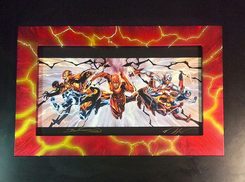 option shown is custom 11x20 standard Frame w/ acrylic. Art by Bret Booth/Rapmund/Dalhouse(not included)