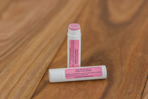 Kiss Me CHERRY PINK Natural Organic Cocoa Shea Butter Sheer Color Lip Balm