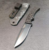 STEALTH GREY BLADE WITH CARBON FIBER SCALES AND TYPHON SHEATH