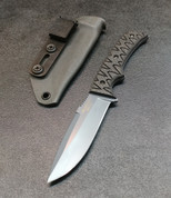 GREY BLADE WITH BLACK CARBON FIBER SCALES AND GREY SHEATH