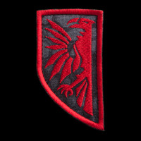 Javran Logo Patch: Kryptek Typhon with red embroidery thread