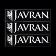 Javran stickers, black