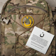 Nün patch, MultiCam background, gold embroidery