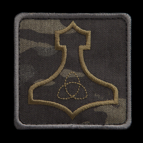 Mjölnir patch, MultiCam Black background