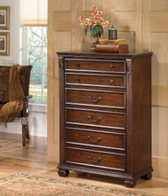 Leahlyn Warm Brown Five Drawer Chest