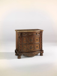 North Shore Dark Brown Three Drawer Night Stand